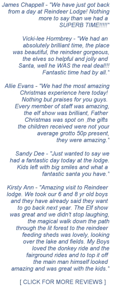 Reviews of Reindeer Lodge Mold Santa's Grotto